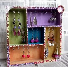 Drawer Organizer altered to be a jewelery box