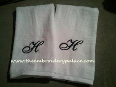 Monogram Hand Towels