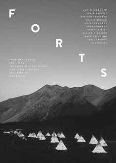 Poster I designed for a local group art exhibition called Forts.