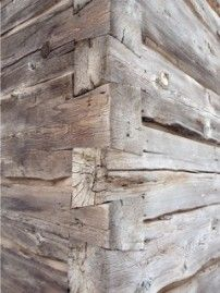 Finnish dovetail hewn logs.