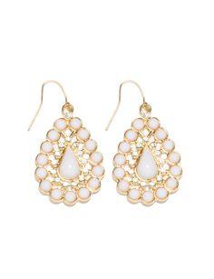 Encrusted Beaded Teardrop Earrings | Women's Jewelry | THE LIMITED