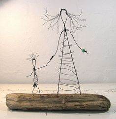 Wire sculpting.