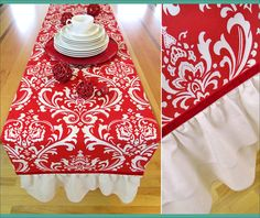 Holiday Ruffled End Table Runner | Sew4Home