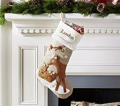 Kids Christmas Stockings & Kids Stockings | Pottery Barn Kids