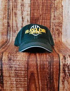 Baylor Football Hat - DARK GREEN at Barefoot Campus
