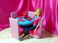 Barbie Furniture Dining Table & Chairs  by NanasBarbieFurniture