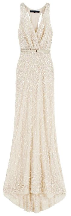 ivory sparkly gown