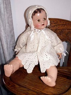 Doll Sweater Cap Set for 20 to 24 Inch Old Antique DOLL by mrnglry, $24.50