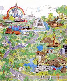 Magic Kingdom Map by mike.solava, via Flickr