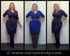 Pink Clove Geo Print Wrap Dress 16 and Blue Wrap Dress 18 http://www.curvywordy.com/2014/01/pink-clove-geo-print-wrap-dress-16-and.html