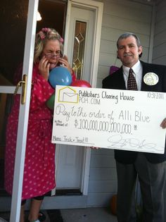 Publishers Clearing House Costumes!  Hilarious!