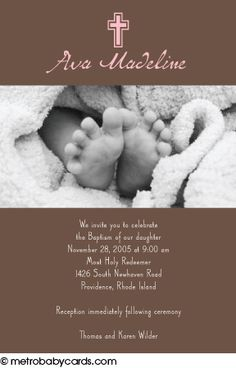 Photo Baptism/Christening Invitations :: Peaceful Pink Design