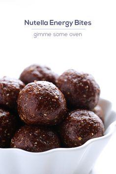 Nutella Energy Bites | gimmesomeoven.com