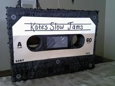 Have everyone take turns whacking this too-cool cassette tape pinata ($50), personalized with the bride-to-be's name, of course.