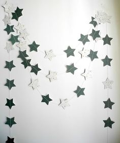 Christmas star garland Xmas decoration Holiday by HoopsyDaisies