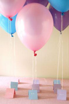 DIY Balloon Name Cards - so cute