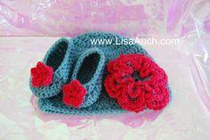 free #crochet pattern booties   #lisaauch