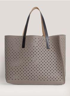 Oversized laser-cut wool-felt Bag Tote Shopper by Marni