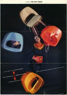 Herbert Matter Advertisement for Knoll (1950s)    KNOLL