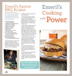 kitchens, dinner, emeril lagass, food, bbq brisket, cooking, cookbooks, emeril recip, emeril fastest