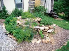 This eye-catching herb garden can be home to plants with much different growing needs thanks to its multiple levels.