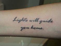 WAIT. A Coldplay tattoo. BRILLIANT.