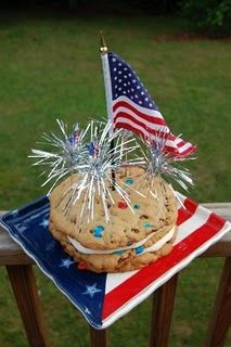 4th of July Layered Cookie Cake