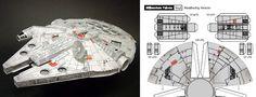 Make your own Millennium Falcon!! paper craft Pinterest Millennium Falcon, Vyrabeni Z Papiru a Fantazie