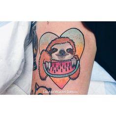 lauren winzer sloth watermelon tattoo