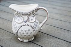 Owl Pitcher from Hobby Lobby...he is my new friend. :)