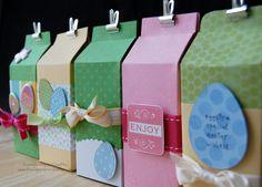 Cajitas milk carton, craft boxes, gift, paper, easter crafts
