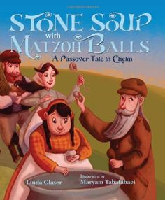 An old man walks into the town of Chelm asking for food. The townspeople claim they have nothing to share, but the man explains that he can make enough food for everyone with just a stone. The townspeople are intrigued and watch the man as he creates a pot of delicious matzoh ball soup. As he begins to cook, he asks for one ingredient and then another, which the townspeople provide. In the end, they have unknowingly contributed to making a Seder feast for all to share!