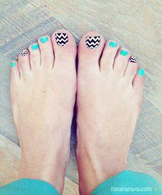 Chevron nail pattern