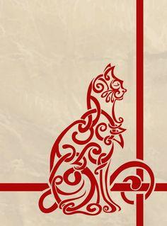 Celtic Cat. cats, tattoo ideas, celtic knots, cat tattoos, digital art, celtic cat, a tattoo, cat lovers, design