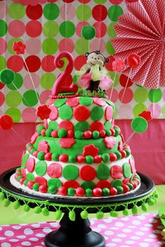Cool mod monkey cake!