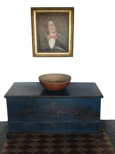 """Z377 18th century   Paradise ,Pennsylvania   ,Chippendale """" Dower """" Blanket Chest,(circa 1780)  Country Treasures Preston MD"""