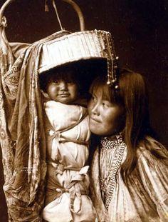 Apache Cradleboard with an umbrella