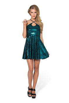 Geometric Floral Teal Reversible Straps Dress - LIMITED - size S