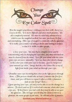 Real Eye Color Changing Spells