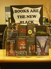 """""""Books are the new black"""", but use all black-colored books."""