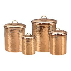 I pinned this 4 Piece Hammered Canister Set from the Kitchen: Possible event at Joss and Main!