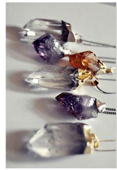 raw crystal pendulums