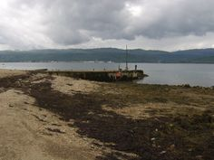 The jetty at St Catherines on Loch Fyne at close to low tide - the perfect time at which to fish from it.