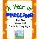 If you buy the combined pack you save $5!  This pack includes all three parts of a year long spelling unit plan.Part 1: 10 weeksPart 2: 13 week...