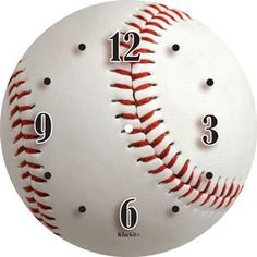 "#DIY: Create the perfect baseball clock for your son with this new 6"" paper clock dial 