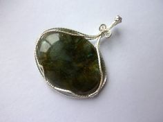 Handmade Wire Wrapped Labradorite Pendant  by LauraVictoriaDesigns, $91.99