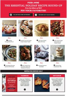 Food & Wine uses Pinterest in their email marketing to bring inspiration to people's inboxes and make it easy to Pin right from the email.
