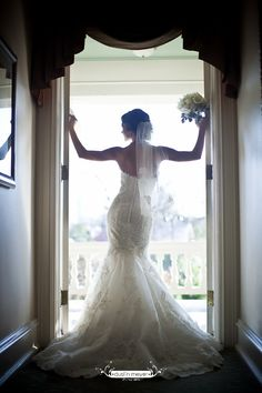 Bridal Portrait - Doorway Silhouette