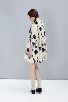 Embroidered Button-Cuff Angel Dress Cream http://www.thewhitepepper.com/collections/dresses/products/embroidered-button-cuff-angel-dress-cream