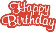 birthday digi, cameo silhouett, card digi, birthday clipart